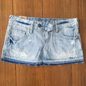 Rue 21 Deconstructed Denim Mini Skirt Size 0/1 NEW
